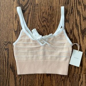 Tularosa cropped knitted top